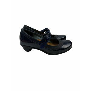 Naot blue leather mary janes size 37